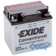 Exide E60-N30L-B 30Ah 300A 12V R евро Обсл.