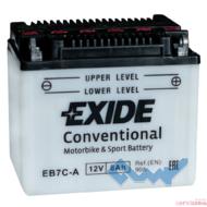 Exide EB7C-A 8Ah 90A 12V R евро Обсл.