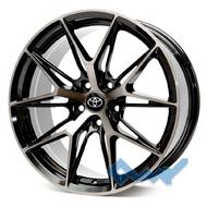 Replica Toyota CN743 8x18 5x114.3 ET40 DIA67.1 Black